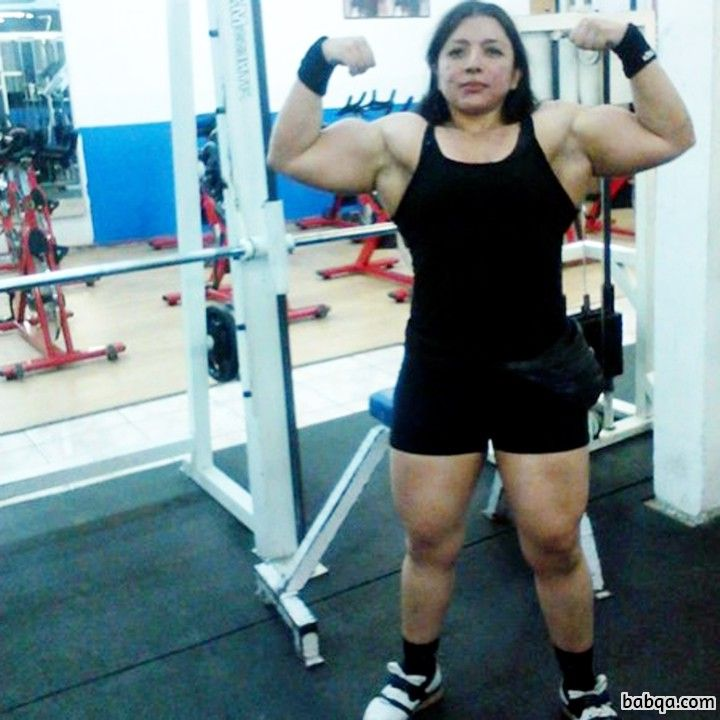 sexy female bodybuilder with muscular body and muscle booty image from linkedin
