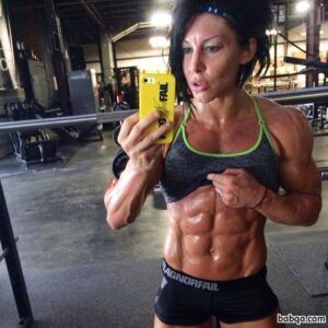 awesome female bodybuilder with fitness body and muscle ass repost from tumblr