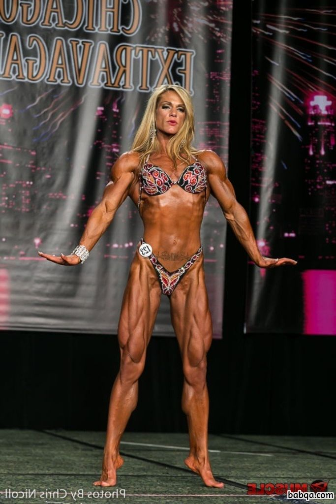 sexy lady with fitness body and muscle legs post from reddit