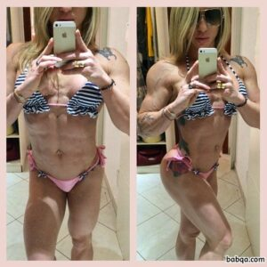 hottest female bodybuilder with strong body and toned arms pic from linkedin