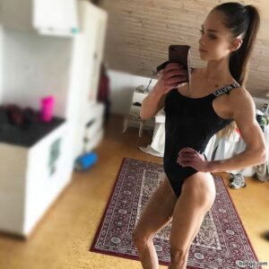 beautiful lady with muscular body and muscle arms post from tumblr
