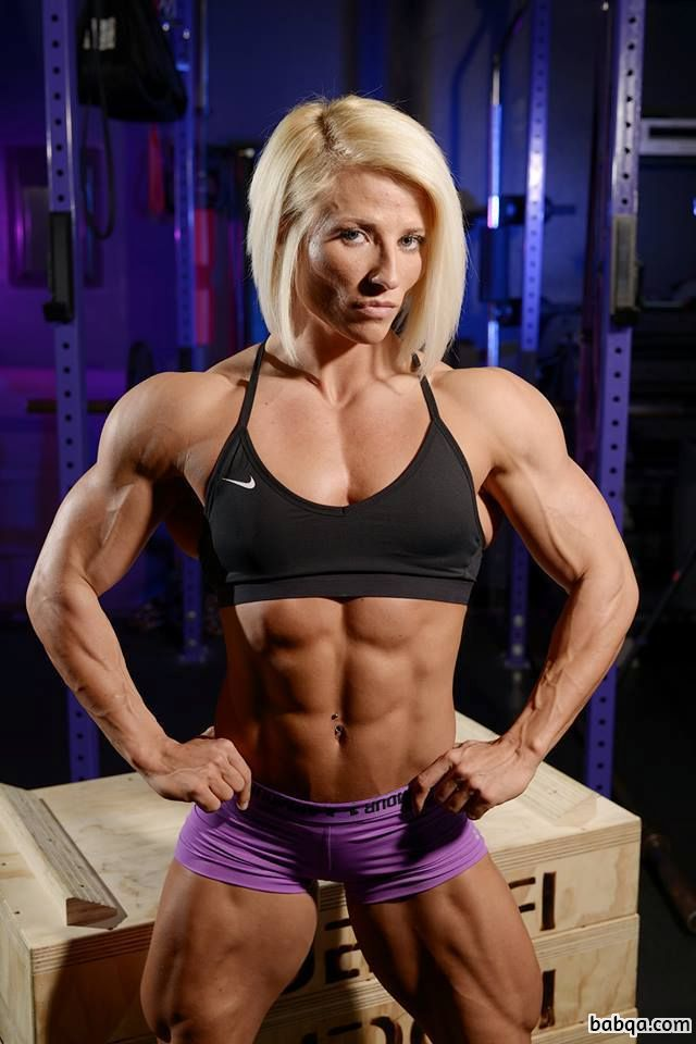 sexy chick with muscle body and toned arms picture from tumblr