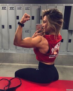 cute female bodybuilder with strong body and muscle ass pic from facebook