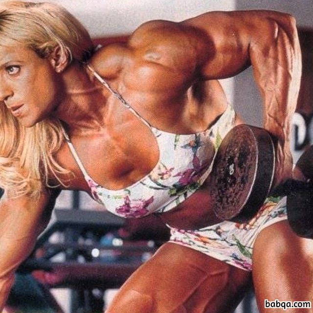 spicy woman with strong body and toned biceps repost from reddit