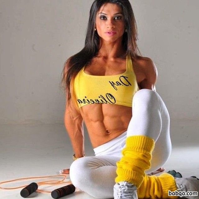 awesome girl with fitness body and toned biceps pic from facebook
