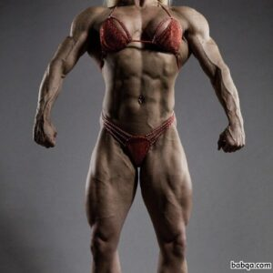 awesome female bodybuilder with muscular body and muscle legs photo from linkedin