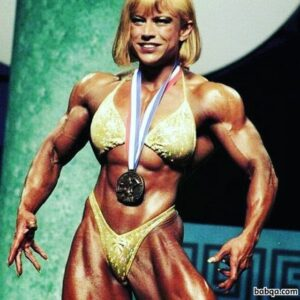 hot female with muscular body and toned biceps image from facebook