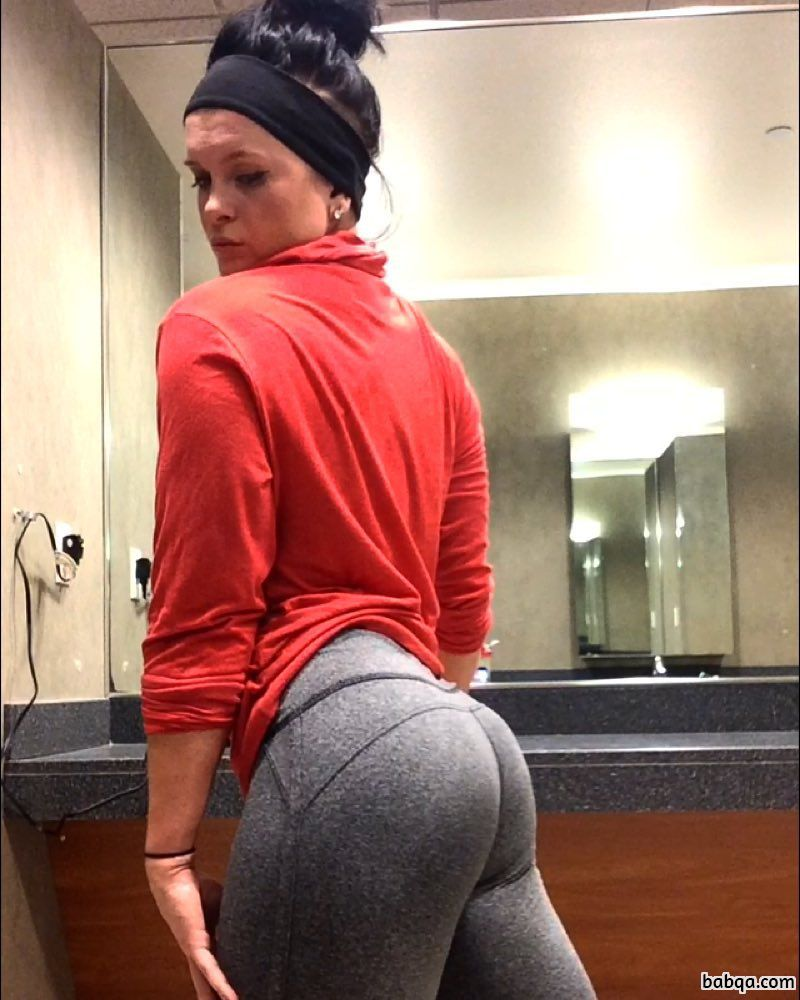 hot chick with fitness body and toned booty image from insta