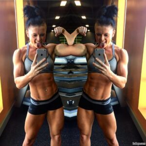 spicy lady with fitness body and toned bottom post from flickr