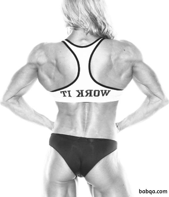 cute female bodybuilder with muscular body and toned arms pic from flickr