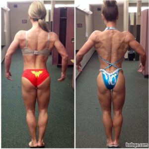 hot female bodybuilder with fitness body and muscle bottom photo from g+