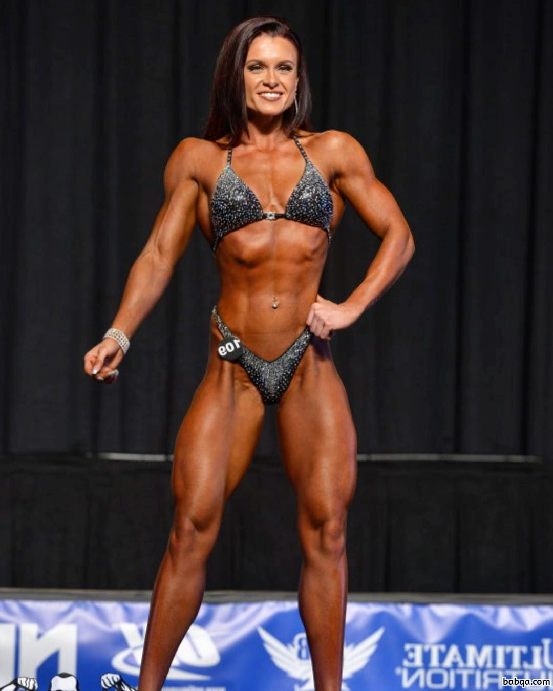 cute female bodybuilder with strong body and muscle booty repost from linkedin