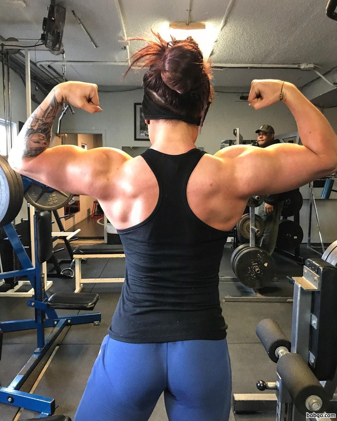 hot babe with strong body and muscle biceps picture from facebook