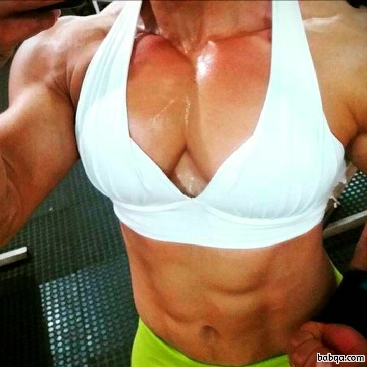 awesome lady with muscular body and muscle ass photo from g+