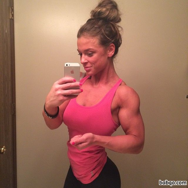 cute girl with muscle body and muscle ass pic from reddit