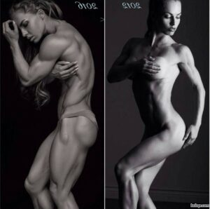 sexy female bodybuilder with fitness body and toned ass image from reddit