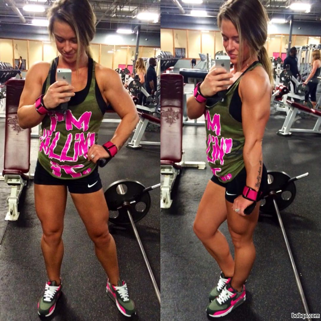 hot girl with fitness body and toned legs image from reddit