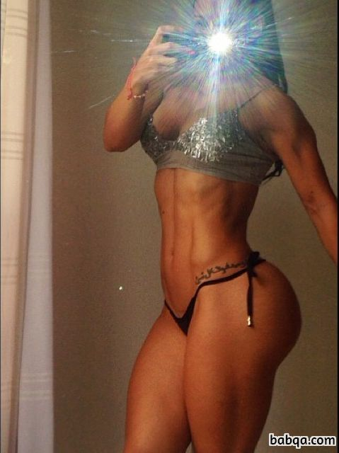 awesome lady with muscle body and toned bottom repost from facebook