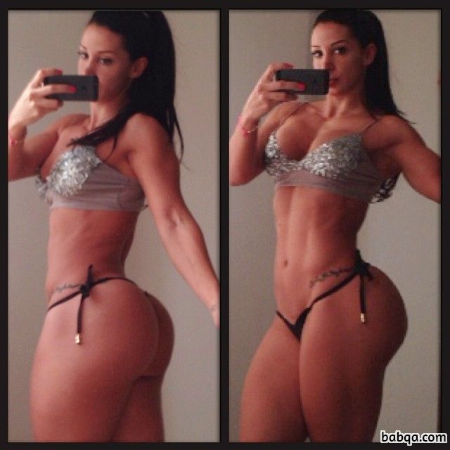 hottest female with fitness body and toned booty pic from facebook
