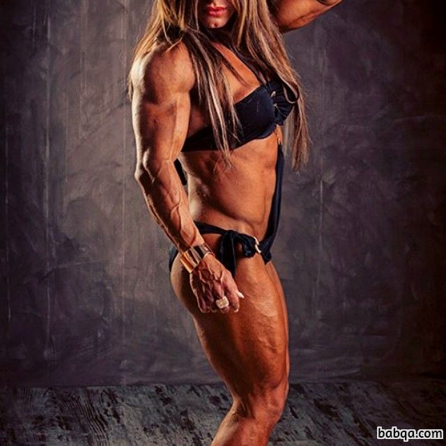 cute female bodybuilder with muscular body and toned arms photo from reddit