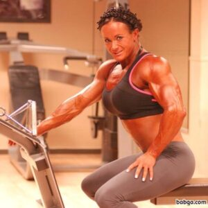 beautiful babe with muscle body and muscle arms photo from linkedin