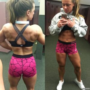 sexy girl with muscle body and muscle booty image from facebook