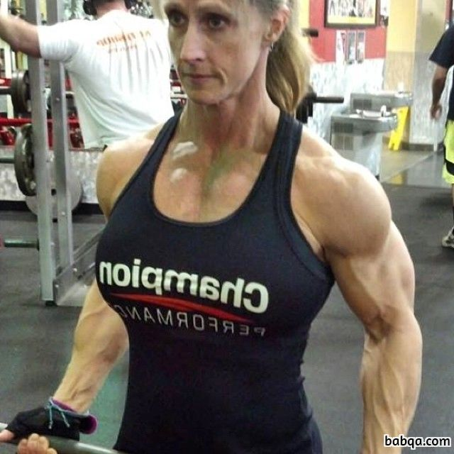 spicy female bodybuilder with strong body and toned legs photo from reddit