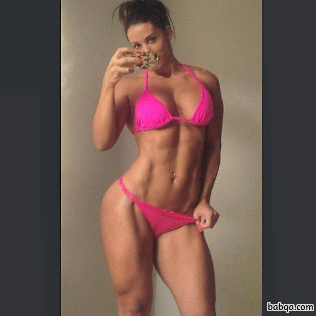 hot female with strong body and toned booty photo from g+