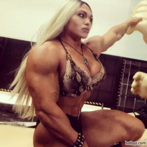 spicy female bodybuilder with muscular body and toned biceps post from linkedin