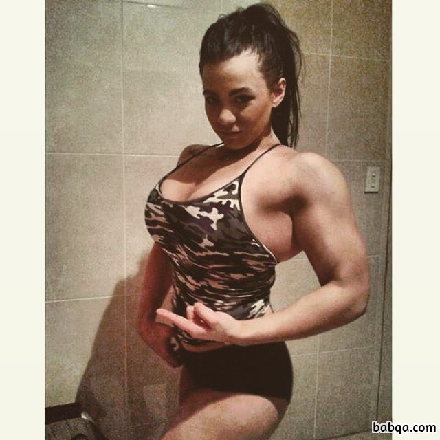beautiful female bodybuilder with strong body and muscle booty picture from reddit