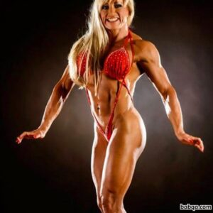perfect woman with fitness body and toned legs post from reddit