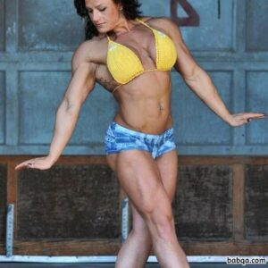 spicy girl with muscular body and muscle arms post from g+