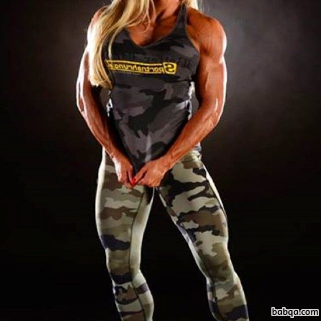 hottest babe with strong body and toned biceps image from reddit