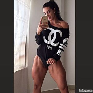 cute lady with fitness body and toned arms picture from reddit