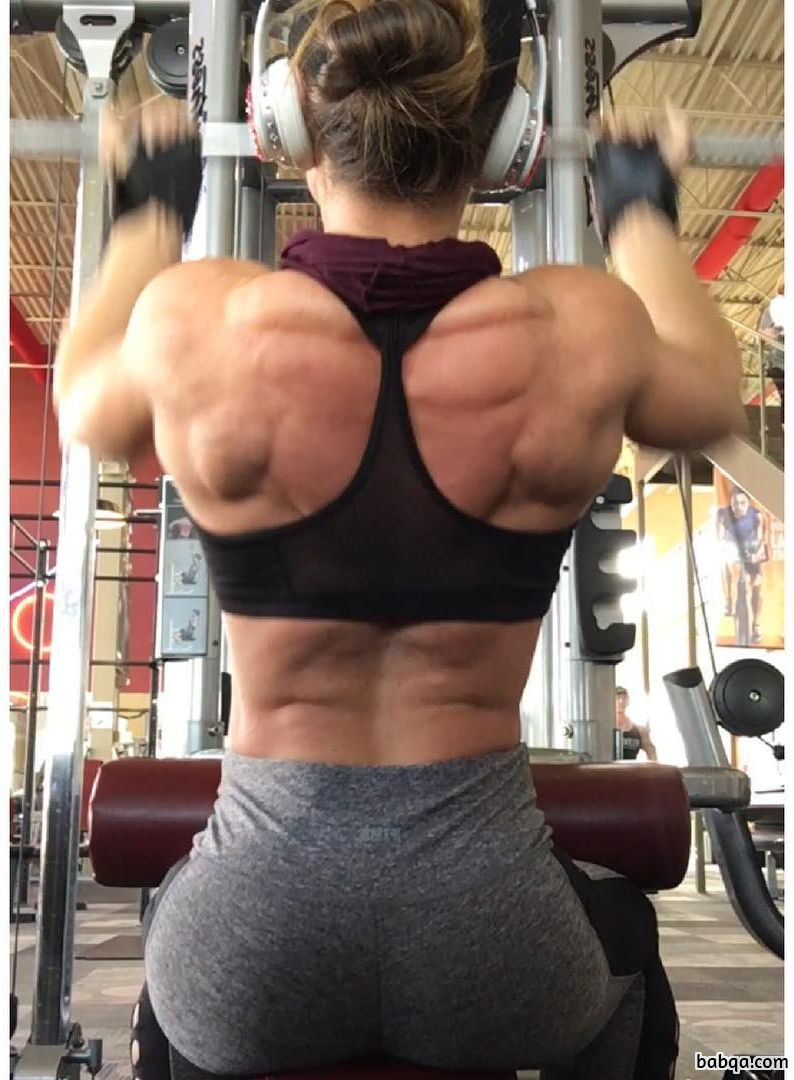 hottest lady with muscle body and muscle arms picture from facebook