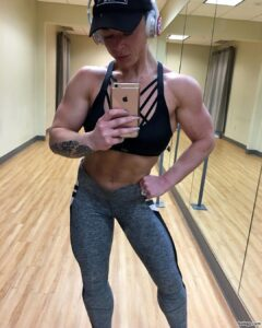 hottest babe with strong body and muscle biceps picture from linkedin