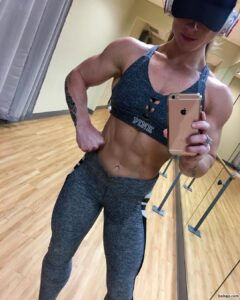 hot chick with muscular body and toned bottom post from linkedin