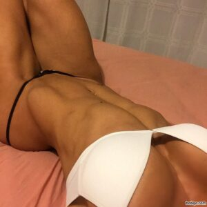 sexy female with fitness body and muscle bottom photo from reddit
