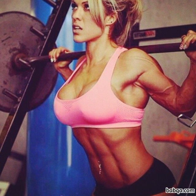 spicy female bodybuilder with muscle body and toned arms image from flickr