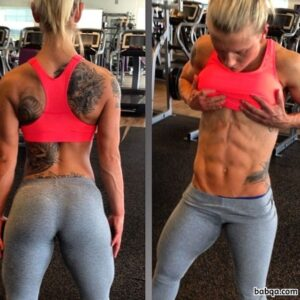 cute lady with muscular body and muscle legs image from tumblr