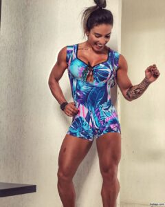 hot babe with fitness body and muscle legs image from reddit