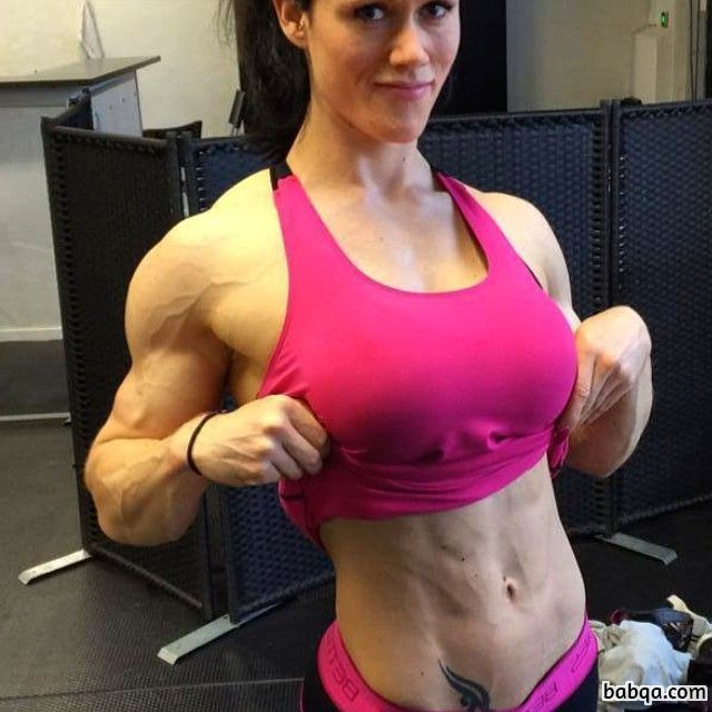 cute female bodybuilder with muscular body and toned legs photo from insta