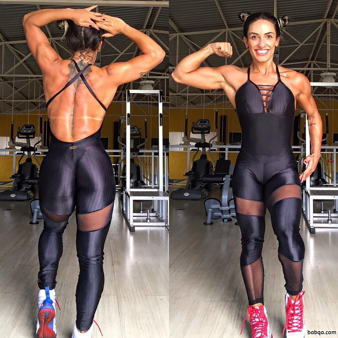 beautiful woman with muscle body and muscle booty image ...