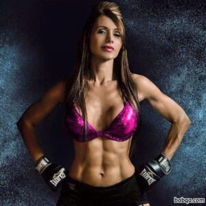 cute female bodybuilder with muscular body and muscle bottom photo from g+