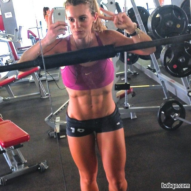 beautiful woman with fitness body and toned biceps picture from facebook