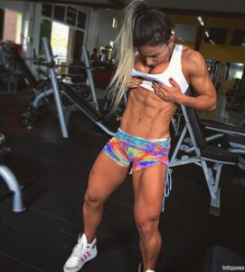 perfect woman with fitness body and muscle legs pic from facebook