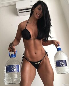 beautiful woman with muscle body and muscle arms repost from reddit