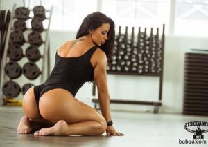 hottest female bodybuilder with muscle body and toned bottom photo from linkedin