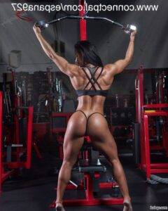 spicy chick with fitness body and muscle legs repost from facebook