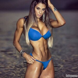 sexy babe with muscle body and toned biceps picture from reddit